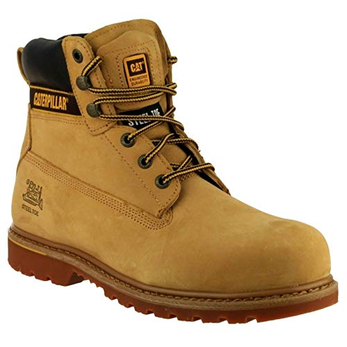 Cat Caterpillar Holton Safety Boot Honey Size 8