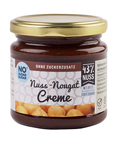 NO SUGAR SUGAR   Nuss-Nougat Creme mit Xylit (200g) ohne Zuckerzusatz -