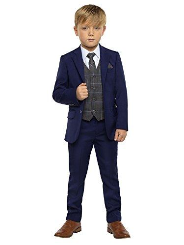 Paisley of London - Traje - para niño Azul Gris 9 Años