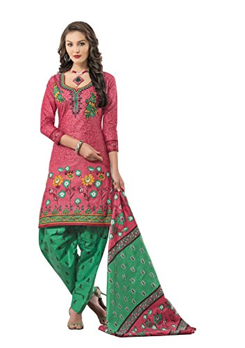 Unstitched Cotton Dress Material / Churidar Suit for Women | Party wear...