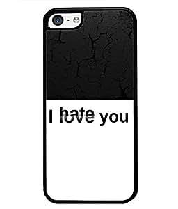Fuson 2D Printed Love-Hate Designer back case cover for Apple iPhone 5C - D4289