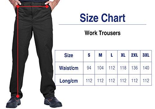 ProWear Herren Arbeitshose, Bundhose, Größen S-XXXL,Arbeitskleidung (S, schwarz) - 4