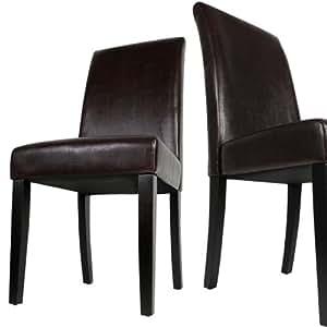 Jago ezstl02braun sedie da cucina in legno set da 2 for Sedie amazon cucina