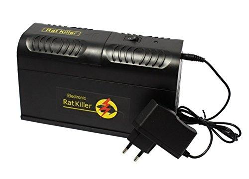Proud Vision Rattenfalle Mausefalle elektrische Batterie Netzbetrieb Mause Ratten Falle elektronisch sauber chemiefrei giftfrei (Elektronische Rattenfalle)