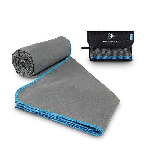 BERGBRUDER Mikrofaser Handtuch mit Tasche - Microfaser Handtücher in Vielen Größen und Farben - Ultraleicht, Kompakt & Schnelltrocknend - Perfekt als Reisehandtuch, Sporthandtuch, Badetuch Set