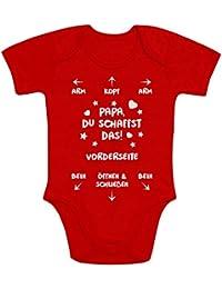 Papa Du Schaffst Das - Witziges Strampler Motiv für Väter Baby Body Kurzarm-Body