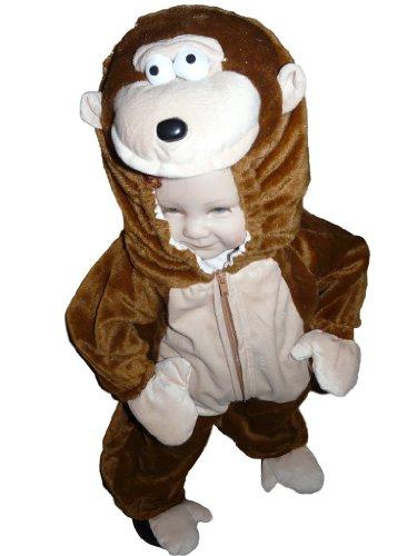 F34A 74-92cm Affe Kostüm Affenkostüm Baby Kostüme Fasching Karneval