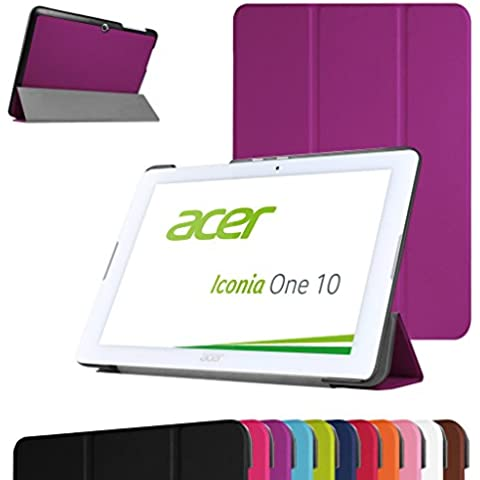 Acer Iconia One 10 B3-A20 Ultra Funda,Mama Mouth Ultra Slim Ligera PU Cuero Con Soporte Funda Caso Case para 10.1