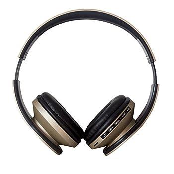 Auricolare Wireless Cuffie, Bluetooth 4.2 Cuffie Pieghevole JIUHUFH con Microfono incorporato/Lettore MP3/Radio FM/Auricolari comodi, Supporta la modalità di chiamata a mani libere/PC/Cellulare-Oro