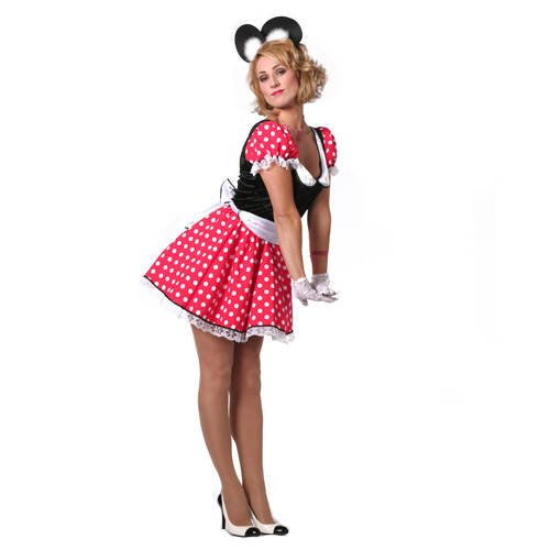 Sexy Mouse Kostüm - PARTY DISCOUNT Damen-Kostüm Minnie, Gr. 36