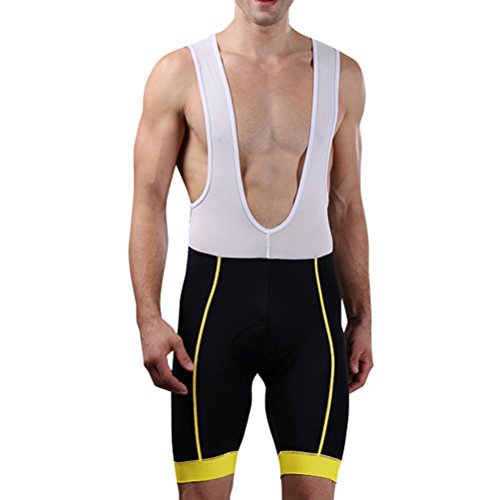 Zhhlinyuan Quality Premium Mens Cycling Bib Shorts 3D Gel Padded Cycling Pants Cycling Shorts (Shorts Premium Bib)