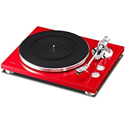 TEAC TN 300-R - Tocadiscos, color rojo