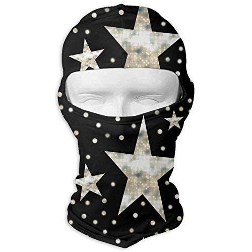 ack Cream Dots Full Face Mask Sun Dust Wind Protection Durable Breathable Seamless Face Mask Bandana Fashion10 ()