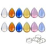 H&D Tropfen Kronleuchter Kristall Anhänger Prismen Teile Perlen multicolor 30Stück