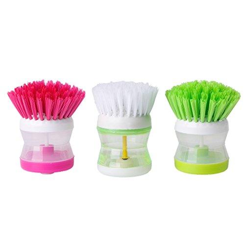 yaonow Küche Waschen Werkzeug Schüssel Topf Palm Pinsel Scrubber Reinigung Reiniger, Gadget, Good Grips Bürste mit Seifenspender, -