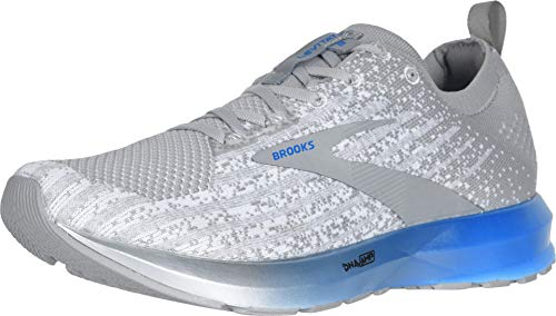 Brooks Mens Levitate 3 Running Shoe - White/Grey/Blue - D - 9.5
