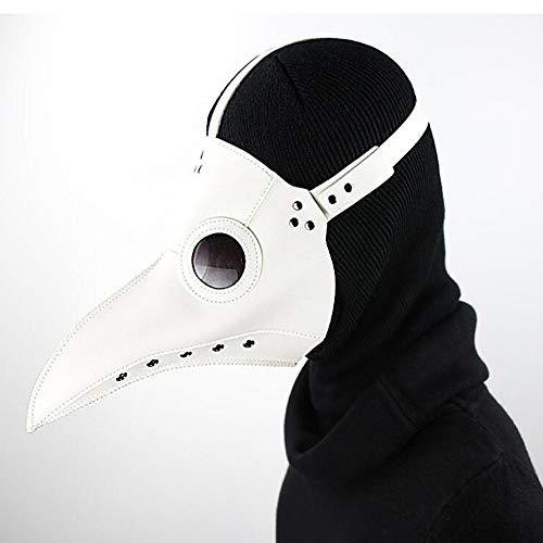 für Erwachsene, Cosplay-Maske, Plague, Doktor, Vogel, Schnabel, Schnabel, Cosplay, Steampunk, Halloween, Kostüm-Requisiten, Weiß ()