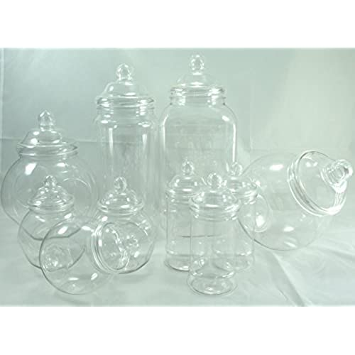 Wedding table decorations amazon plastic jar party pack 10 assorted jars junglespirit Image collections