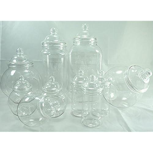 Wedding table decorations amazon plastic jar party pack 10 assorted jars junglespirit Images