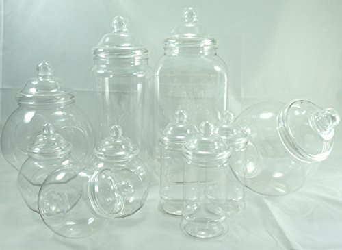 Plastic jar party pack-10 assorted jars by jars2u
