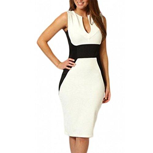 Waooh - Kleid Anzug Mit Ausschnitt Drop Fare Weiß