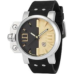 Shark Herren Armbanduhr XXL Quarzuhr Schwarz Silikon Uhrband SH170