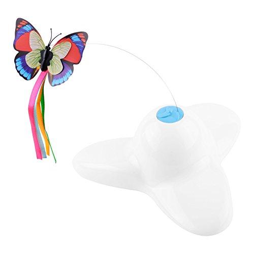 Kimba - Katzenspielzeug Elektrisch drehender Schmetterling Katzenspielzeug - Interaktives Spielzeug für Katzen