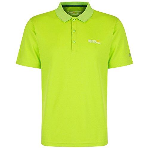 Regatta Great Outdoors Herren Maverik III Polo-Hemd, kurzärmlig (5XL) (Limettengrün) (Wicking Polo-shirt Männer)