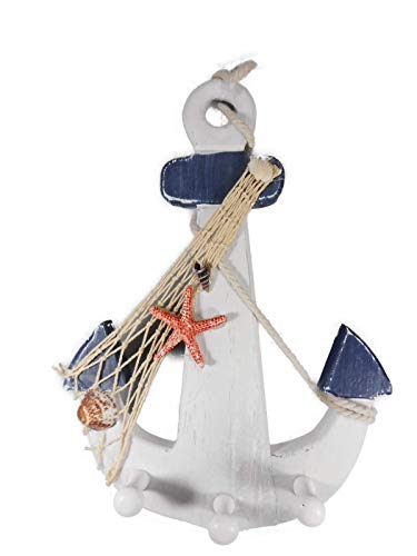 Maritim Garderobe Anker mit Muschel Seestern 33 x 21 cm See Meer Figur Deko GAC C168