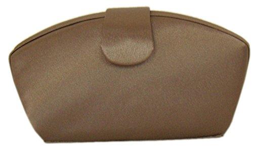 Damen Abendtasche Edle Handtasche Clutch Elegante Satin Tasche diva Handtasche Braun