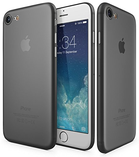 Fone-Stuff Apple iPhone 6s 0.3mm 6 Case Ultra Thin Slim Protective Cover Peau dure avec la protection de l'appareil photo en noir avec Protecteur d'écran gratuit Black