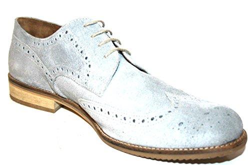 Manz , Chaussures de ville à lacets pour homme Noir Noir Grau (grey 023)