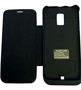 Vanda®-COQUE BATTERIE POUR Samsung Galaxy S5 mini 3000 mAh Flip étui en cuir / couverture -noir