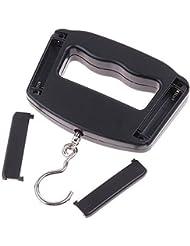niceEshop(TM) 50KG 10G Mini Escala Digital Portable de Gancho de Pesca, Negro