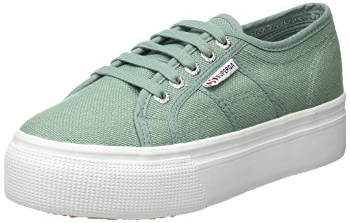 Sneakers Green Wedge (Superga 2790 Acotw, Damen Sneakers, Grün (Green Malachite) - Größe: 40 EU(6.5 UK))