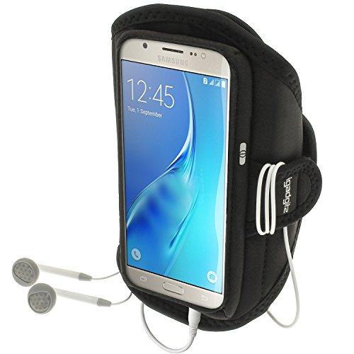 iGadgitz u5011Stirnband-Arme Sport für Samsung Galaxy J5j510fn (2016) Armband-Schwarz