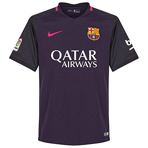 Camiseta oficial nueva Barcelona Away de la temporada 2016-2017de La Liga.Este kit de fútbol auténtico está fabricado por Nike y es personalizable. Camiseta Barcelona Away 2016-17.Celebra la continuación de una verdadera dinastía del fútbol con la ...