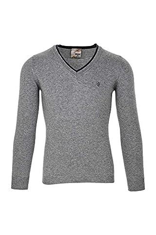 Anna David Damen Pullover Kaschmir, Traumhaft weiche Eleganz, Schicker Damenpullover, Farbe: Grau, Größe: XL