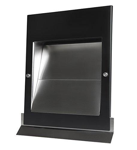 Edelstahl Überdruck Abluftgitter LG Sigma-S 150 Schwarz PVD-Beschichtet DN 150 mit Schwarzer UV-Beständiger Pulverbeschichteten Blende