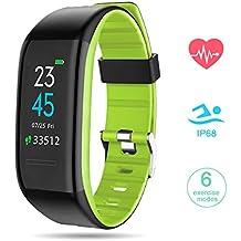GOKOO Pulsera Actividad con Podómetros Smartwatch Inteligente con Pulsómetro Reloj Inteligente Fitness Tracker Impermeable IP68 Pulsera