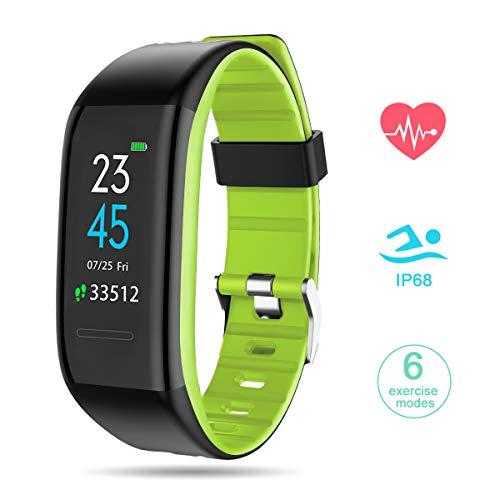 GOKOO Fitness Armband mit Pulsmesser, Smartwatch Fitness Tracker Farbbildschirm Smart Watch Wasserdicht Wasserdicht IP68 Aktivitätstracker Pulsuhren Schrittzaehler Fitness Uhr für Damen Herren (Grün)