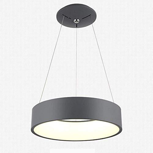 ● LED-Pendelleuchte Moderne Deckenleuchte aus Kronleuchter Zylindrische Form Zeitgenössisches Acryl-Hängelicht Innenkreis LED-Lichtquelle Design-Leuchte nicht Dimmbar Positives weißes Licht 4000K, Gra -