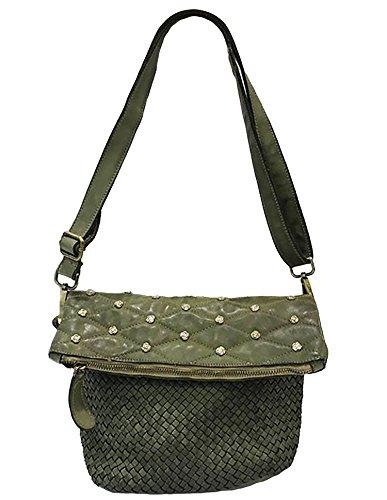34fabf1fdd8c5 Damen Tasche Diana Paulhide Beutel Handtasche Schultertasche Vintage  Geflochten Gewaschenes Leder Made In Italy Handgefertigt Umhängetasche Vintage  UsedLook ...