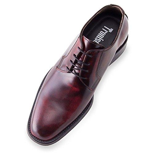 Masaltos Chaussures Réhaussantes Pour Homme avec Semelle Augmentant la Taille Jusqu'À 7cm. Fabriquées en Peau. Modèle Oporto Bordeaux