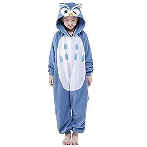 c2313dc6d9 ABYED Pijama Animal Entero Unisex para Adultos Niños con Capucha Ropa de  Dormir Traje de Disfraz para Festival de Carnaval Halloween Navidad