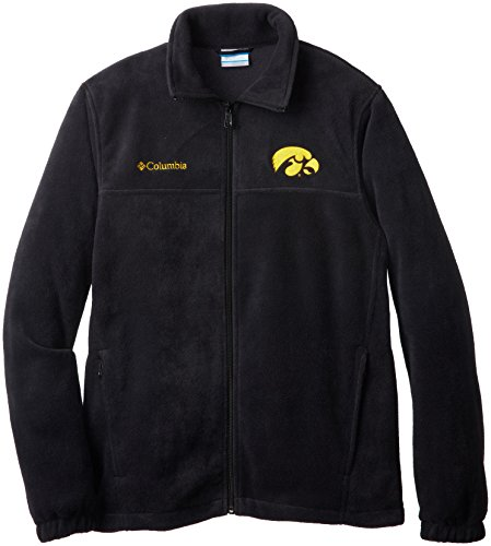 NCAA Iowa Hawkeyes Herren Collegiate Flanker II Full Zip Fleece Pullover, Herren, schwarz, XX-Large -