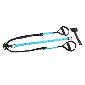 Capital Sports Hitchrock Slingtrainer - Sangle de rééducation et de renforcement musculaire par exercices de suspension (poignées anti-glisse, crochet de porte inclus)