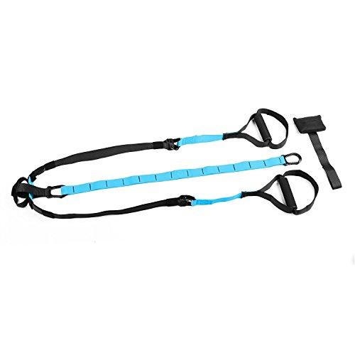 Capital Sports Hitchrock Sistema de cuerdas para entrenamiento en suspensión (Correas ajustables, asas antideslizantes, sujeción segura, gancho para puerta)