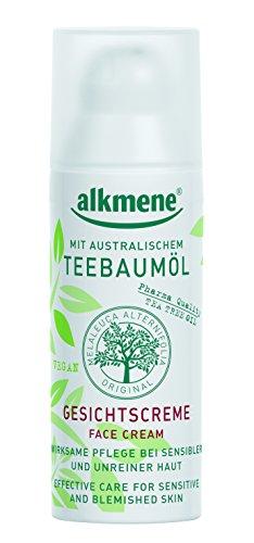 alkmene Teebaumöl-Gesichtscreme Gesichtspflege für unreine Haut, Face Cream, 2er Pack (2 x 50 ml)