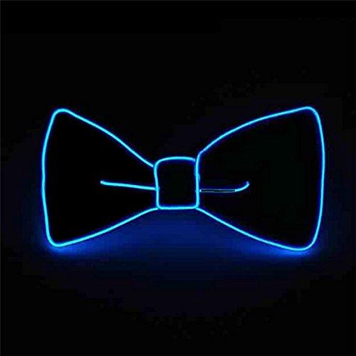 watte Neuheit Einstellbar EL Draht LED Aufhellen Leuchtende Fliege (Blau) ()